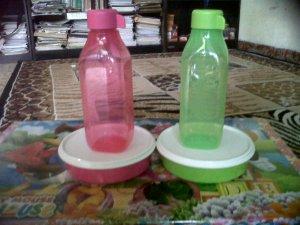 paket hemat pink & hijau tupperware harga @60rb per set